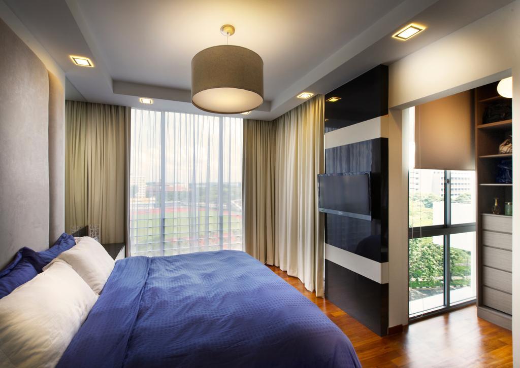 Modern, Condo, Bedroom, Grandeur 8, Interior Designer, U-Home Interior Design, Bed, Furniture