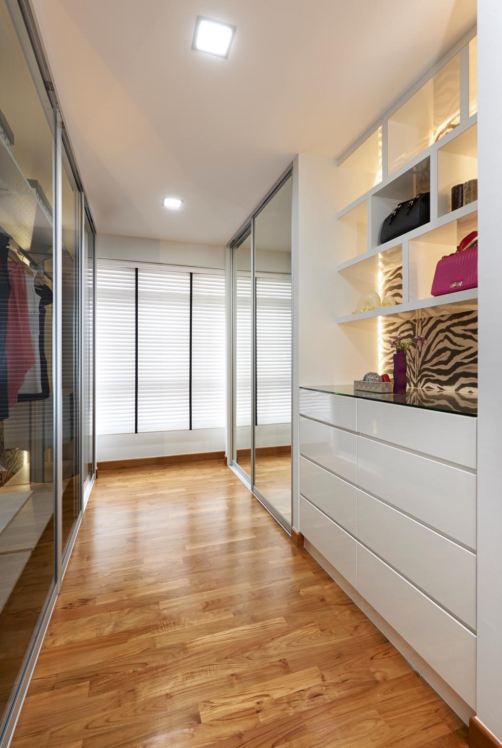 Modern, HDB, Bedroom, Anchorvale Cove, Interior Designer, U-Home Interior Design, Collage, Poster, Shelf