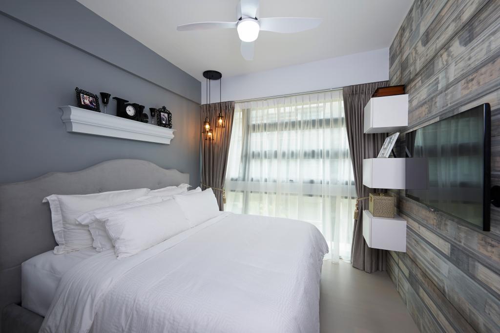 Transitional, Condo, Bedroom, Hedges Park, Interior Designer, U-Home Interior Design, Indoors, Interior Design, Room