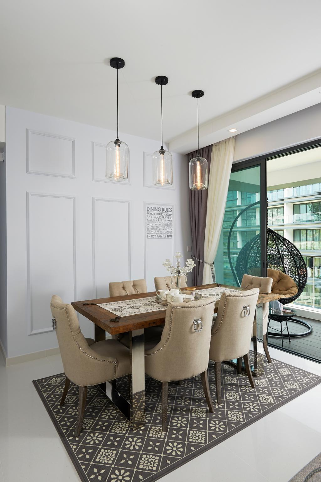 Transitional, Condo, Dining Room, Hedges Park, Interior Designer, U-Home Interior Design, Chair, Furniture, Indoors, Interior Design, Room