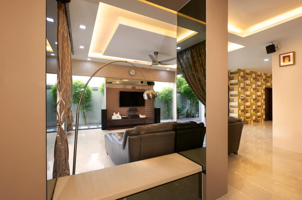 Contemporary, Landed, Living Room, Jalan Terubok, Interior Designer, U-Home Interior Design, Flora, Jar, Plant, Potted Plant, Pottery, Vase, Indoors, Interior Design
