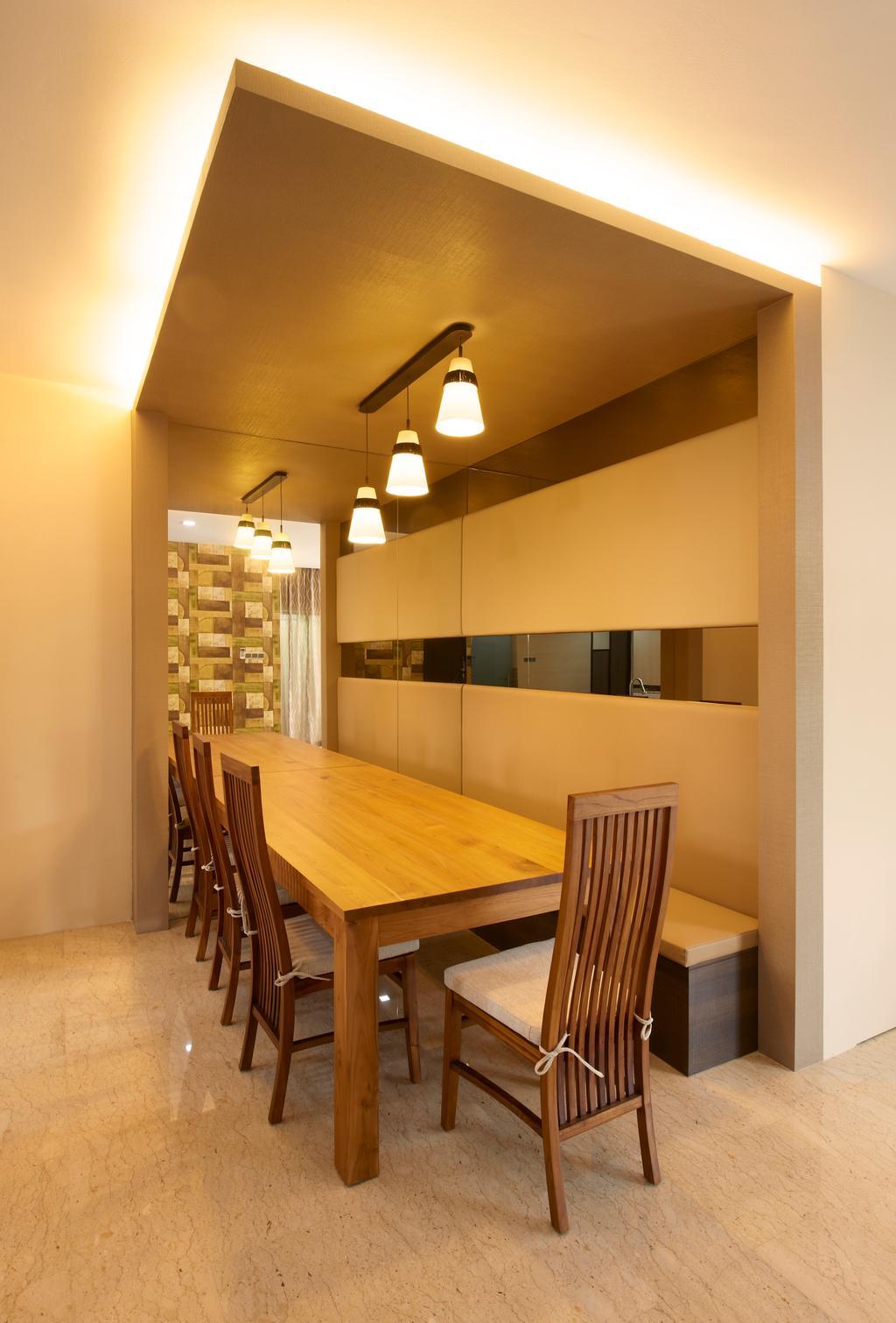 Contemporary, Landed, Dining Room, Jalan Terubok, Interior Designer, U-Home Interior Design, Indoors, Interior Design, Room, Wood, Dining Table, Furniture, Table, Chair