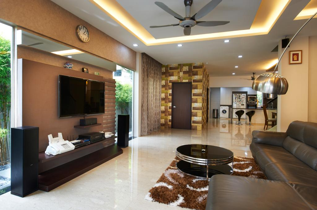 Contemporary, Landed, Living Room, Jalan Terubok, Interior Designer, U-Home Interior Design, Couch, Furniture, Bowl