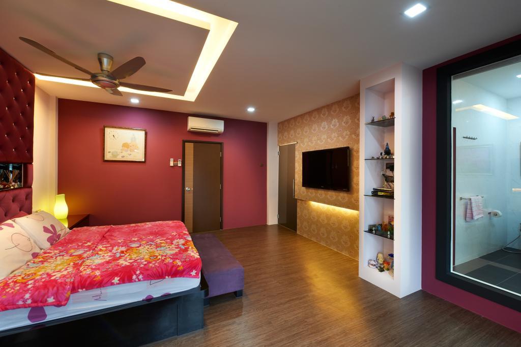 Contemporary, Landed, Bedroom, Jalan Terubok, Interior Designer, U-Home Interior Design, Bed, Furniture