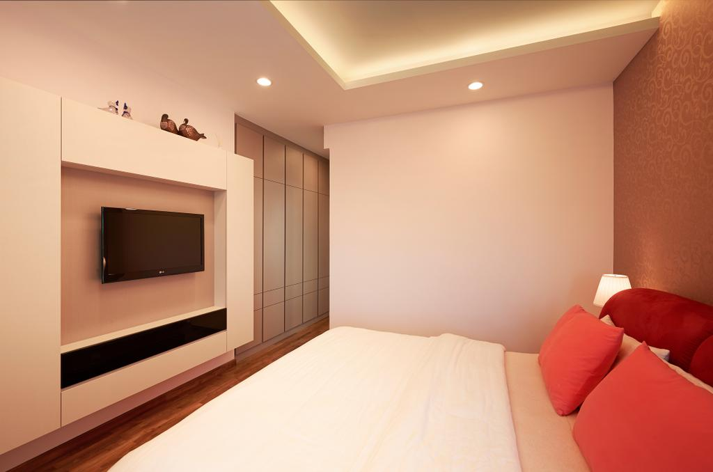 Modern, Condo, Bedroom, Kovan Melody, Interior Designer, U-Home Interior Design, Indoors, Interior Design, Chair, Furniture
