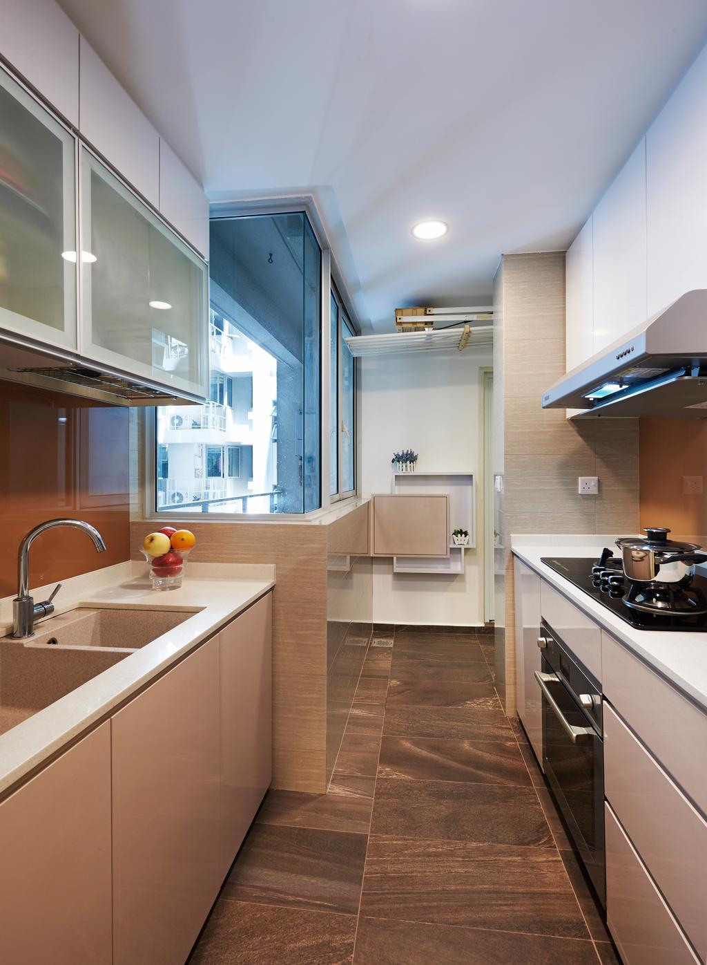Modern, Condo, Kitchen, Kovan Melody, Interior Designer, U-Home Interior Design, Sink, Appliance, Electrical Device, Oven, Indoors, Interior Design, Room