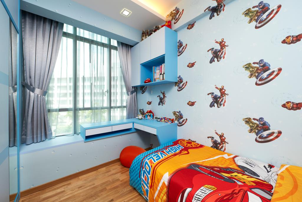 Modern, Condo, Bedroom, Oasis Garden, Interior Designer, U-Home Interior Design