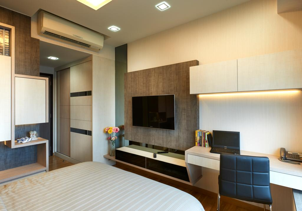 Modern, Condo, Bedroom, Oasis Garden, Interior Designer, U-Home Interior Design, Indoors, Interior Design