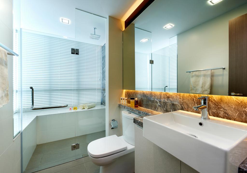 Modern, Condo, Bathroom, Oasis Garden, Interior Designer, U-Home Interior Design, Indoors, Interior Design, Room, Toilet