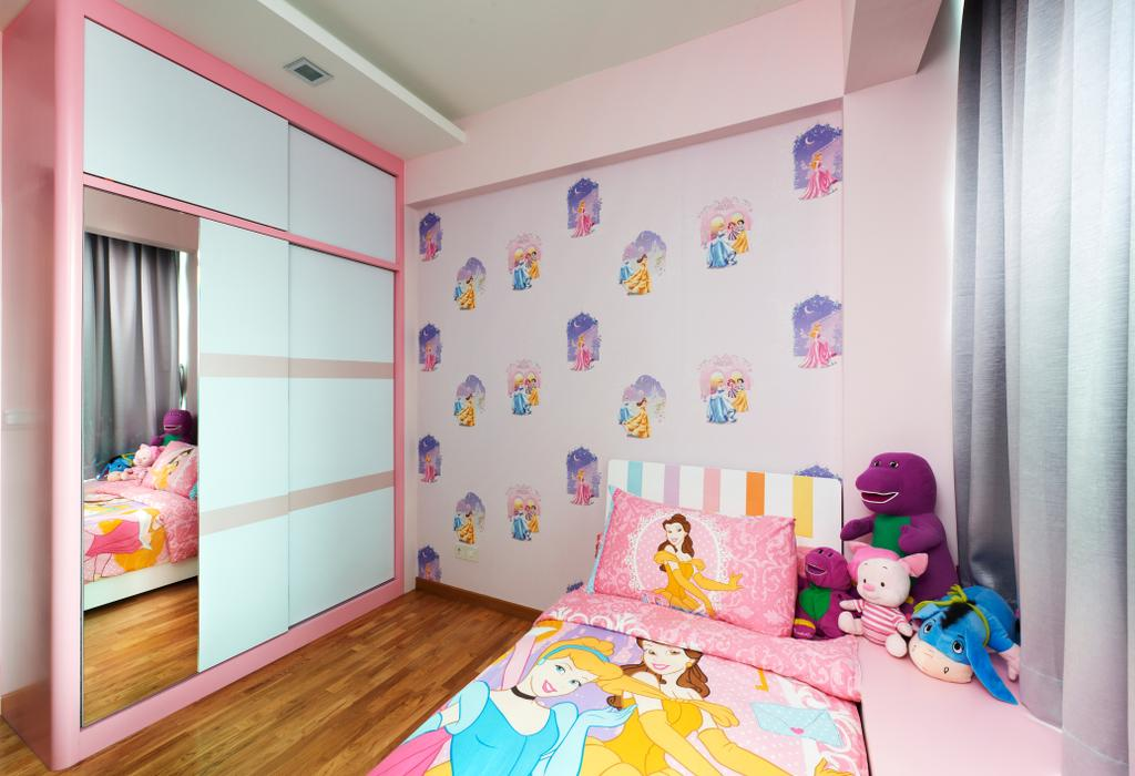 Modern, Condo, Bedroom, Oasis Garden, Interior Designer, U-Home Interior Design, Toy