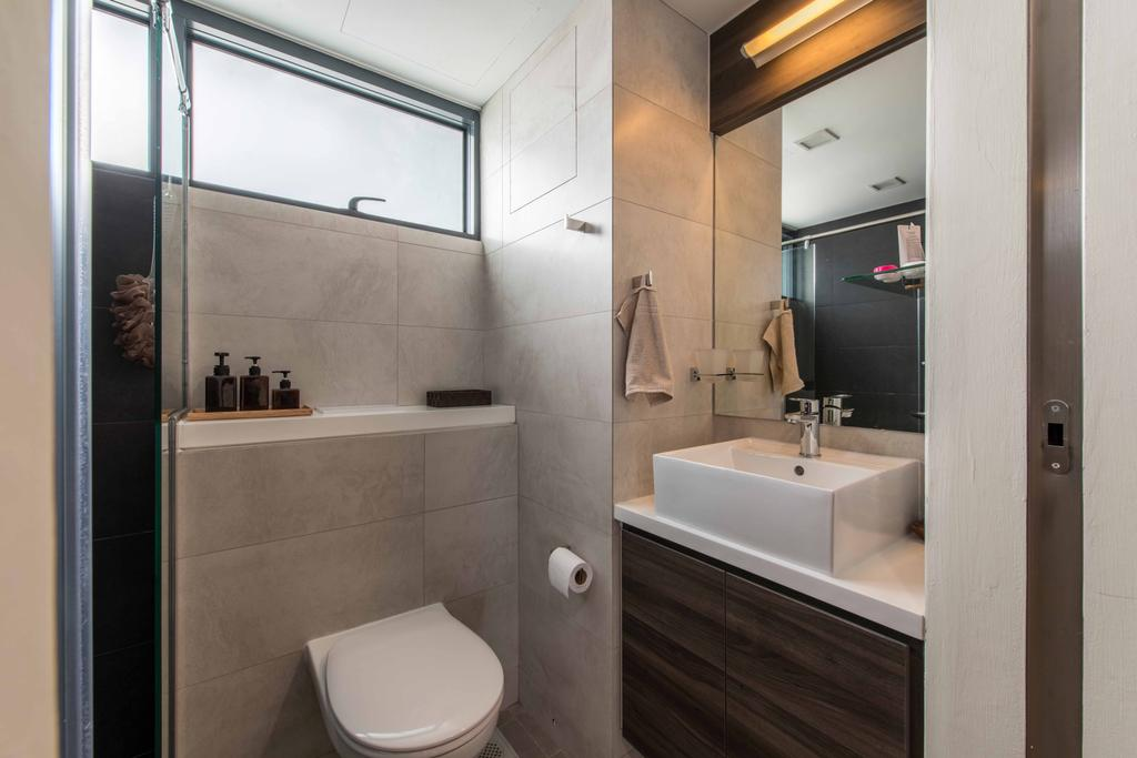 Modern, HDB, Bathroom, Sky Terrace, Interior Designer, U-Home Interior Design, Toilet, Indoors, Interior Design, Room, Sink