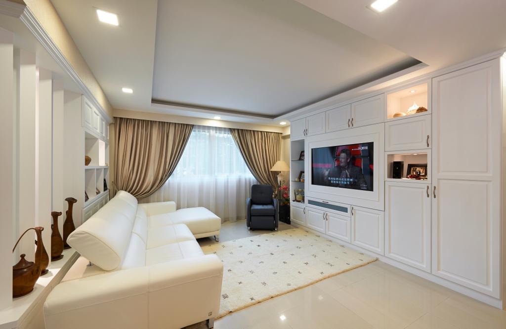 Eclectic, HDB, Living Room, Simei, Interior Designer, U-Home Interior Design, Jar, Pottery, Vase, Indoors, Interior Design, Electronics, Entertainment Center