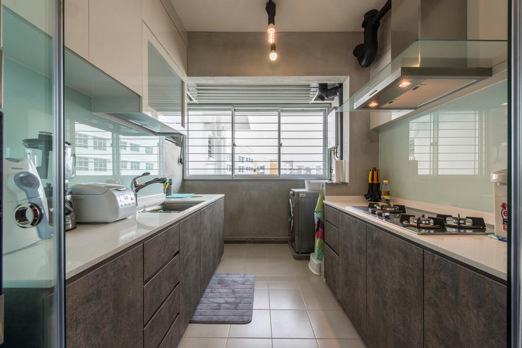 Scandinavian, HDB, Kitchen, Sunshine Gardens, Interior Designer, U-Home Interior Design, Indoors, Interior Design, Room