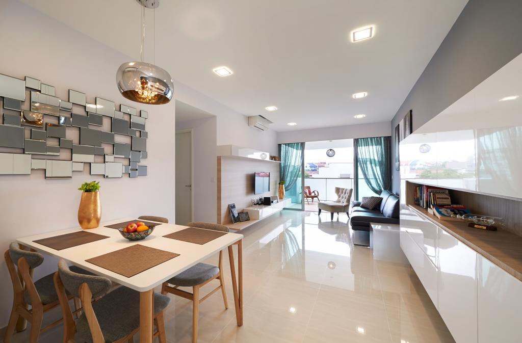 Minimalistic, Condo, Living Room, The Minton, Interior Designer, U-Home Interior Design, Modern, Dining Table, Furniture, Table, Dining Room, Indoors, Interior Design, Room