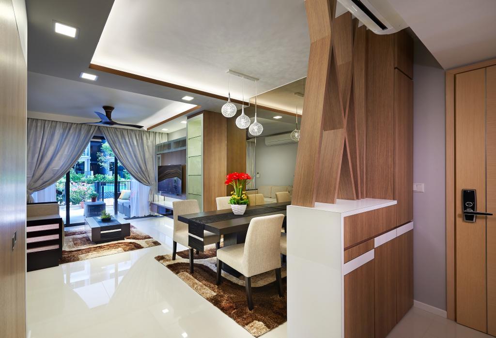 Modern, HDB, Dining Room, The Rainforest, Interior Designer, U-Home Interior Design, Dining Table, Furniture, Table, Building, Housing, Indoors, Interior Design