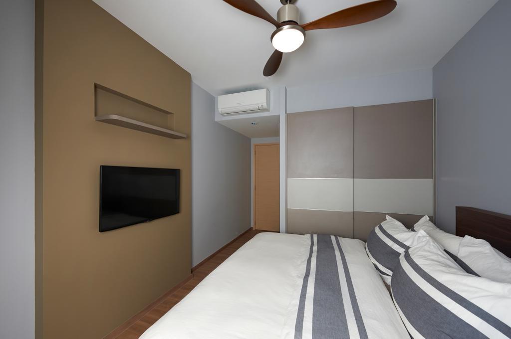 Modern, HDB, Bedroom, The Rainforest, Interior Designer, U-Home Interior Design, Shelf, Indoors, Interior Design, Room