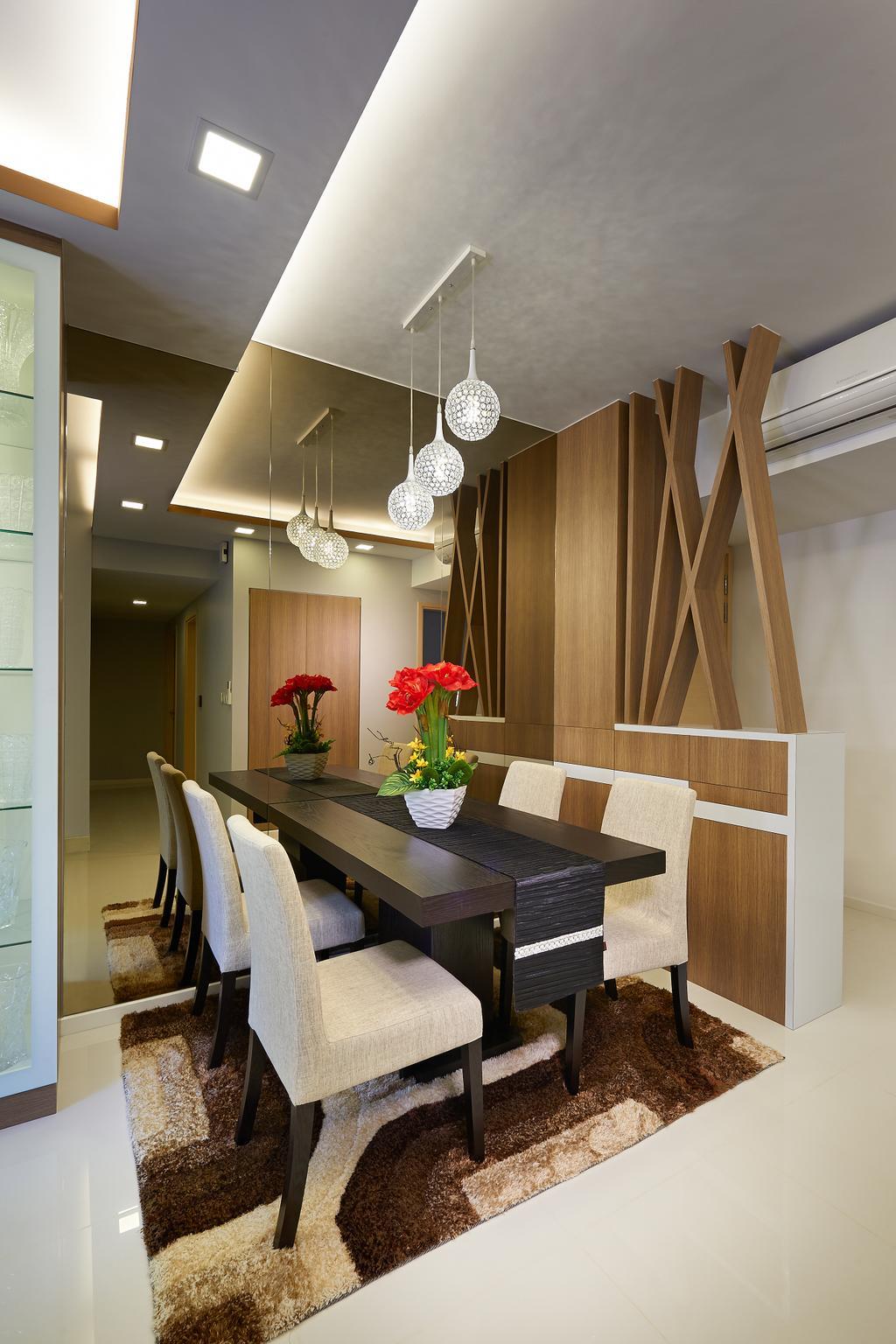 Modern, HDB, Dining Room, The Rainforest, Interior Designer, U-Home Interior Design, Indoors, Interior Design, Room, Blossom, Flora, Flower, Flower Arrangement, Ornament, Plant, Coffee Table, Furniture, Table