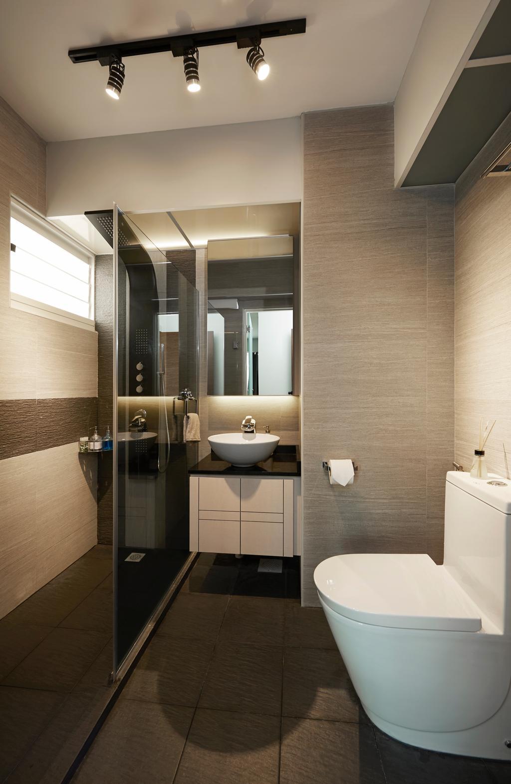 Contemporary, HDB, Bathroom, Tiong Bahru View, Interior Designer, U-Home Interior Design, Indoors, Interior Design, Room