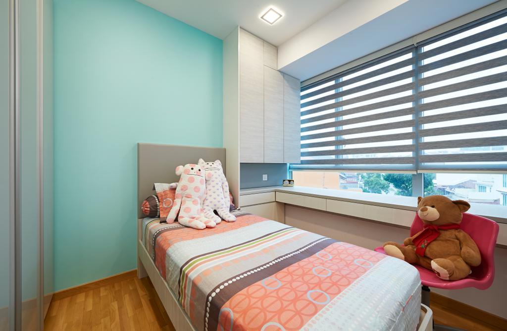 Minimalist, Condo, Bedroom, The Minton, Interior Designer, U-Home Interior Design, Modern, Teddy Bear, Toy, Bed, Furniture, Indoors, Interior Design, Room