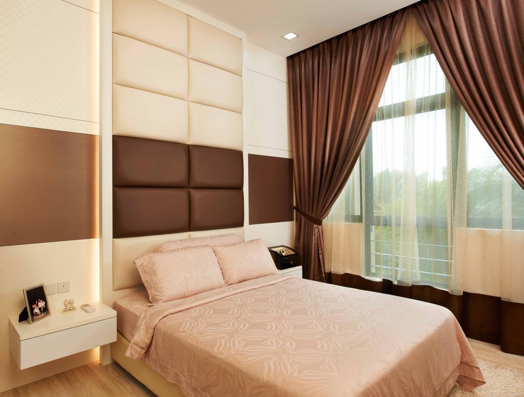 Modern, Condo, Bedroom, Laguna 88, Interior Designer, U-Home Interior Design, Bed, Furniture, Indoors, Interior Design, Room