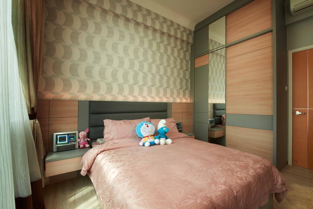 Modern, Condo, Bedroom, Laguna 88, Interior Designer, U-Home Interior Design, Indoors, Interior Design, Room