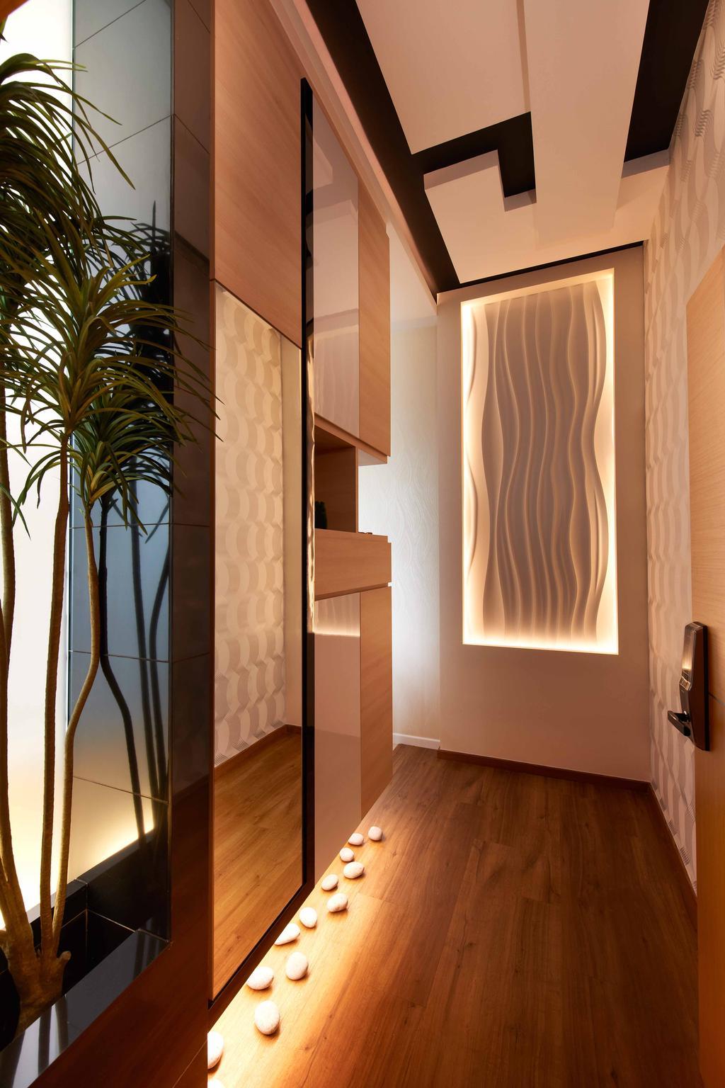 Modern, Condo, Living Room, Laguna 88, Interior Designer, U-Home Interior Design, Flora, Jar, Plant, Potted Plant, Pottery, Vase, Indoors, Interior Design, Bookcase, Furniture
