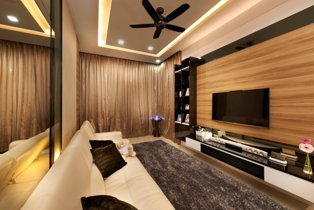 Modern, Condo, Living Room, Laguna 88, Interior Designer, U-Home Interior Design, Indoors, Interior Design, Light Fixture, Room
