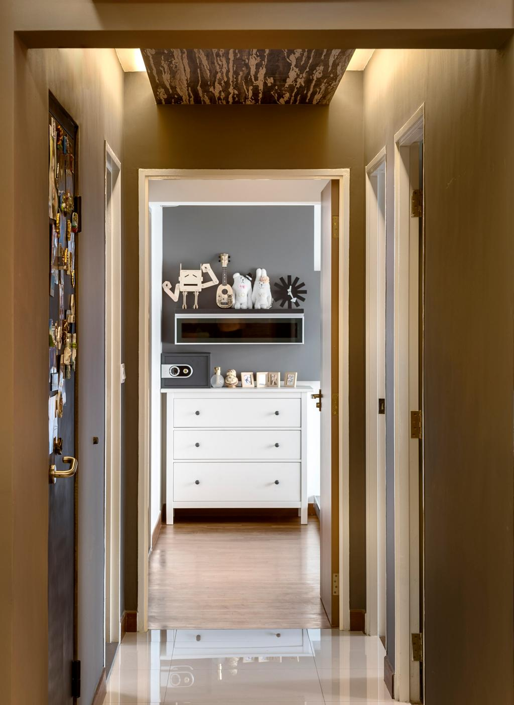 Contemporary, HDB, Yishun Natura, Interior Designer, D5 Studio Image, Walkway, Hallway, Corridor