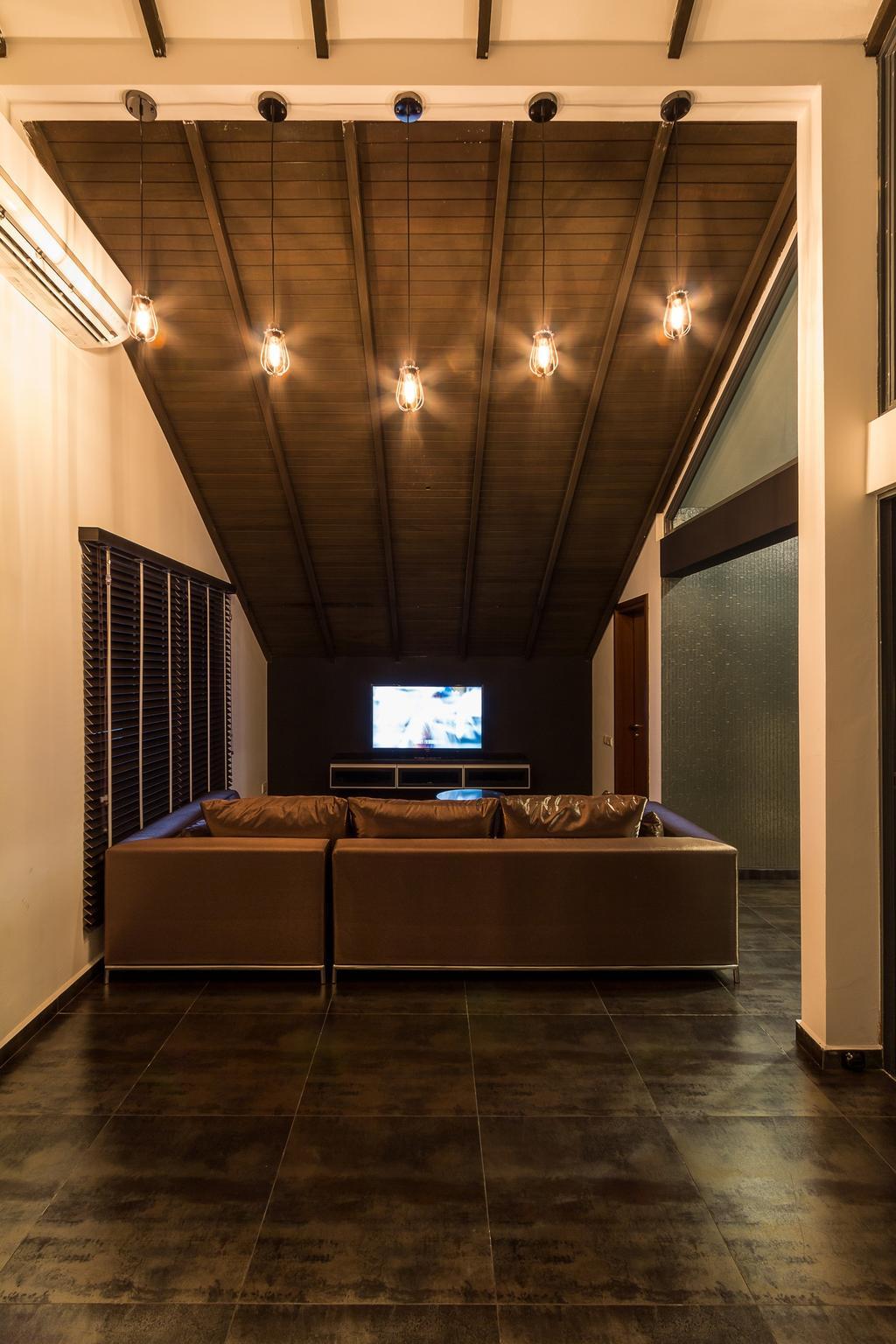 Modern, Landed, Siglap Road, Interior Designer, Fineline Design, Sofa, Wood Floor, Couch, Furniture, Electronics, Entertainment Center, Home Theater