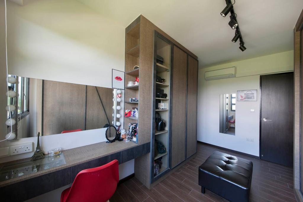 Industrial, HDB, Bedroom, Segar Road, Interior Designer, Aart Boxx Interior, Bathroom, Indoors, Interior Design, Room