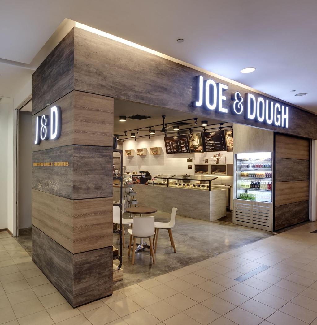 Joe & Dough (Golden Shoe Carpark), Commercial, Interior Designer, Liid Studio, Scandinavian, Exterior, Wood Laminate, Wood, Laminate, Cement Flooring, Glass Display, Dining Table, Chair, Track Lighting, Rustic, Furniture, Table, Cafe, Restaurant