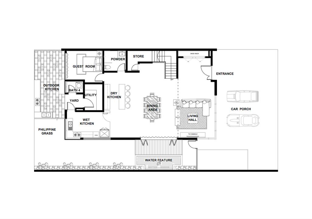 Contemporary, Landed, Bandar Kinrara, Interior Designer, Zyon Studio Sdn. Bhd., Floor Plan, Diagram, Plan