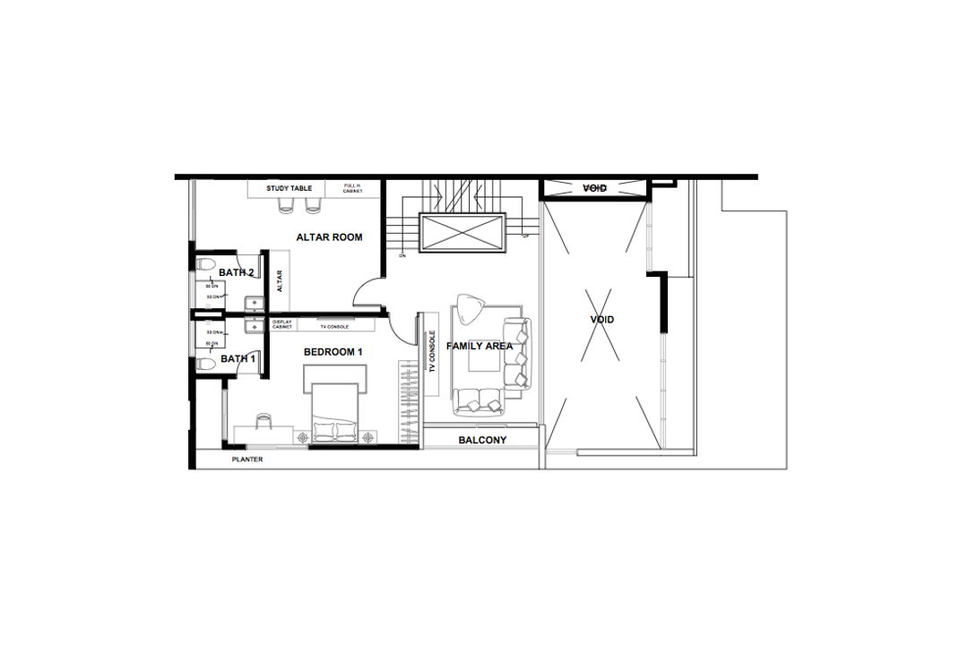 Bandar Kinrara, Zyon Studio Sdn. Bhd., Contemporary, Landed, Floor Plan, Diagram, Plan