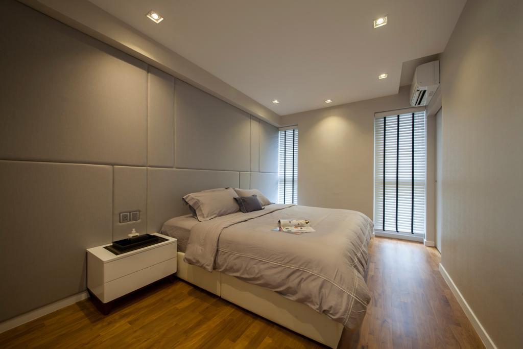Modern, HDB, Bedroom, SkyTerrace @ Dawson (Block 92), Interior Designer, Hue Concept Interior Design, Hotel, Suite, Sophisticated, Sleek, Elegant, Simple, Cosy, Bed, Furniture