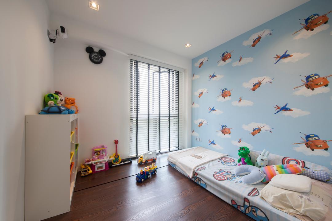 SkyTerrace @ Dawson (Block 92), Hue Concept Interior Design, Modern, Bedroom, HDB, Boys Room, Boys Room, Kids Room, Kids Room, Childish, Cartoon Wallpaper, Baby Boy, Toys Cabinet, Indoors, Interior Design, Room