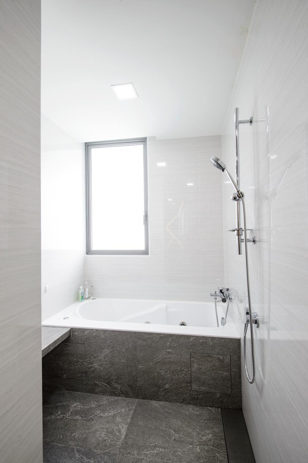Eclectic, Condo, Bathroom, A Treasure Trove, Interior Designer, Hue Concept Interior Design, Indoors, Interior Design, Room, Shower