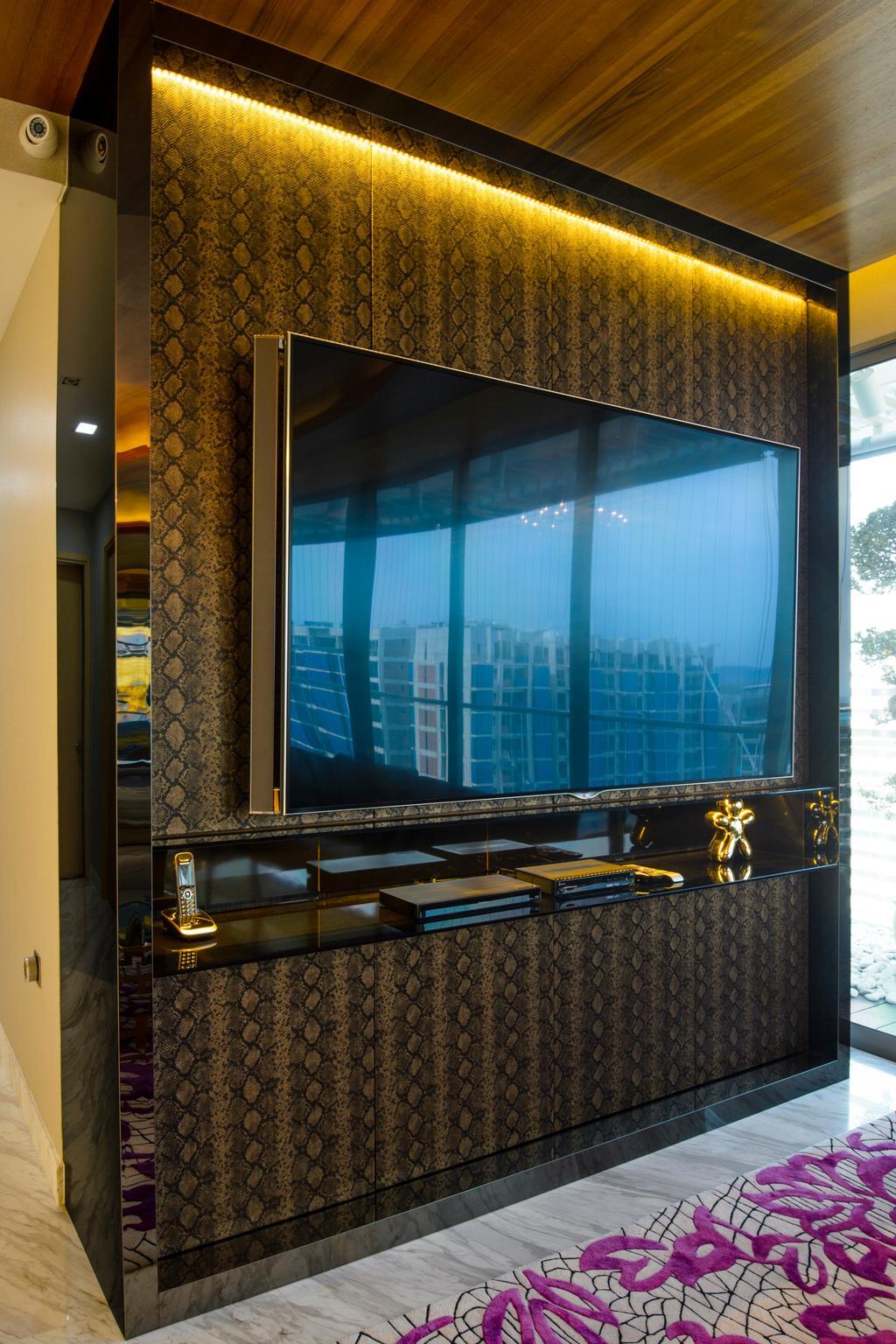 Eclectic, Condo, Living Room, A Treasure Trove, Interior Designer, Hue Concept Interior Design, Wooden Panel, Laminate, Window