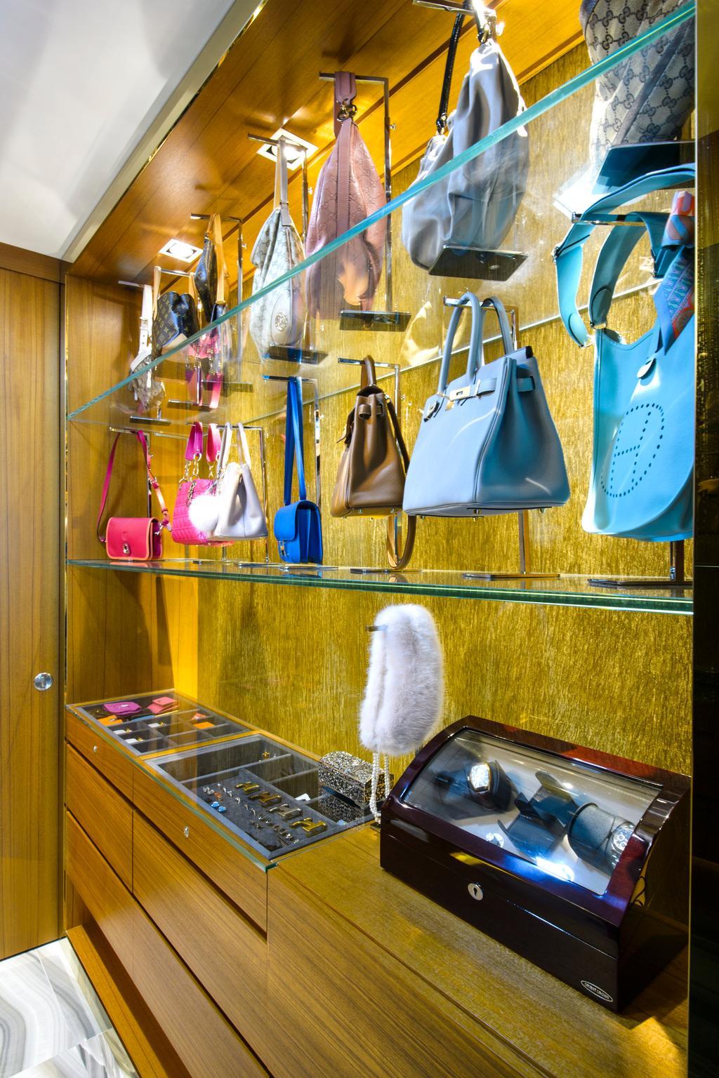 Eclectic, Condo, Bedroom, A Treasure Trove, Interior Designer, Hue Concept Interior Design, Bag Display, Bag Storage, Bags, Walk In Wardrobe, Cabinet, Wardrobe