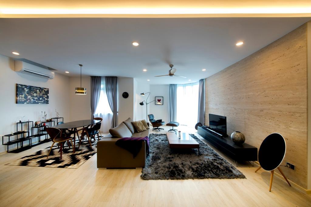 Contemporary, Condo, Living Room, Mariam Way, Interior Designer, Hue Concept Interior Design, Couch, Furniture, Dining Room, Indoors, Interior Design, Room, Conference Room, Meeting Room