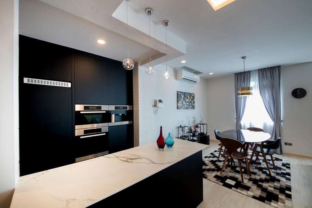 Contemporary, Condo, Dining Room, Mariam Way, Interior Designer, Hue Concept Interior Design, Indoors, Interior Design, Dining Table, Furniture, Table
