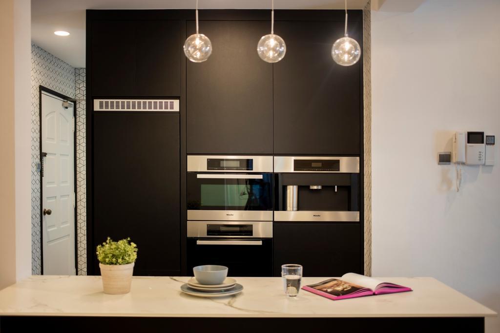Contemporary, Condo, Kitchen, Mariam Way, Interior Designer, Hue Concept Interior Design, Dining Room, Indoors, Interior Design, Room
