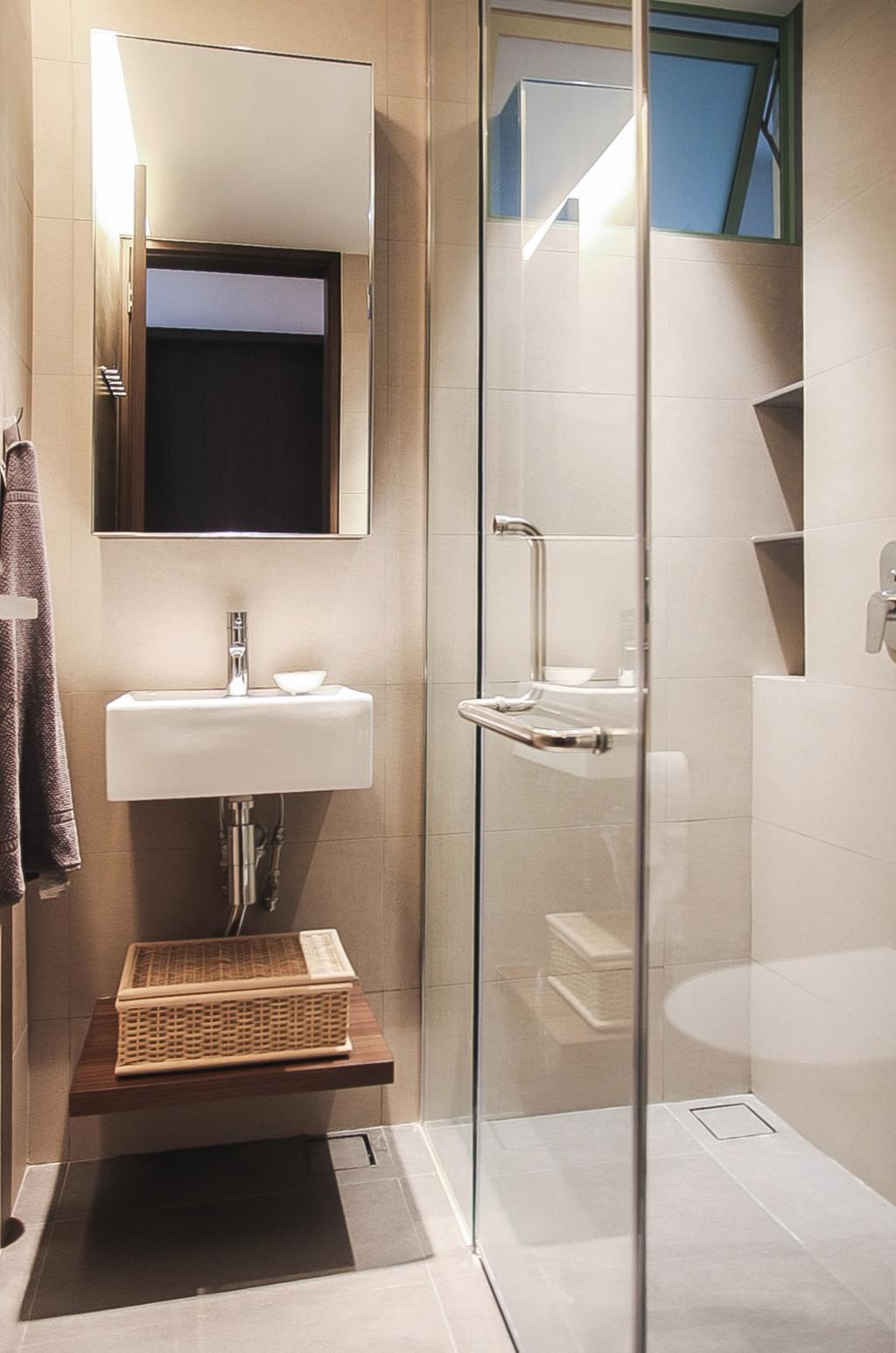 Modern, Condo, Bathroom, Tiara, Architect, JOW Architects, Shower Door, Glass Screen, Vanity Sink, Elegant, Hotel, Suite, Indoors, Interior Design, Room