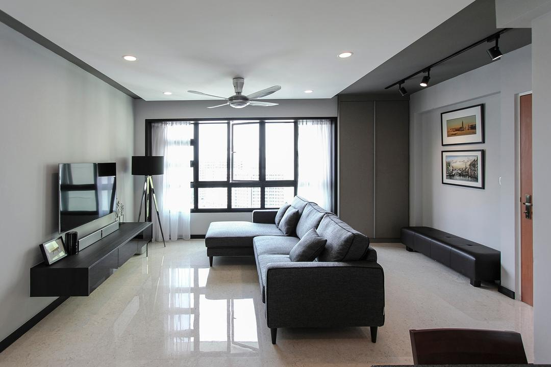 Punggol Way (Block 264A) Living Room Interior Design 12