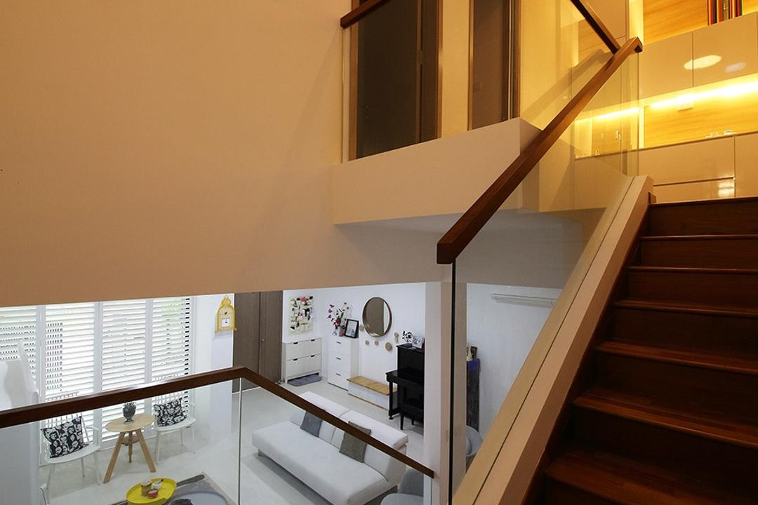 Clover Way, Icon Interior Design, Minimalistic, Landed, Stairs, Staircase, Railing, Stairs Handrail, Second Level, Banister, Handrail