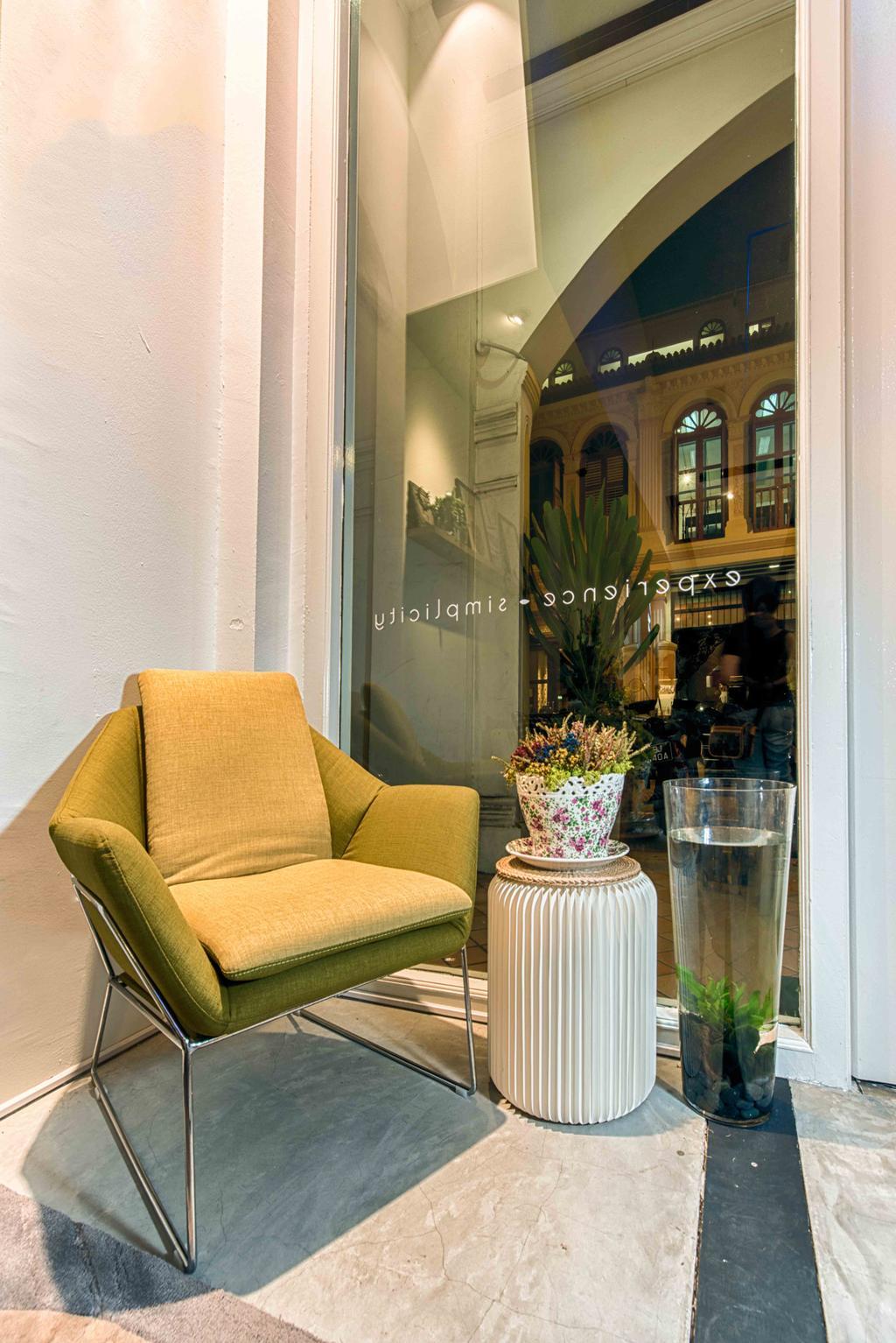 Salon, Commercial, Interior Designer, Mr Shopper Studio, Eclectic, Scandinavian, Retro, Couch, Furniture, Flora, Jar, Plant, Potted Plant, Pottery, Vase, Chair