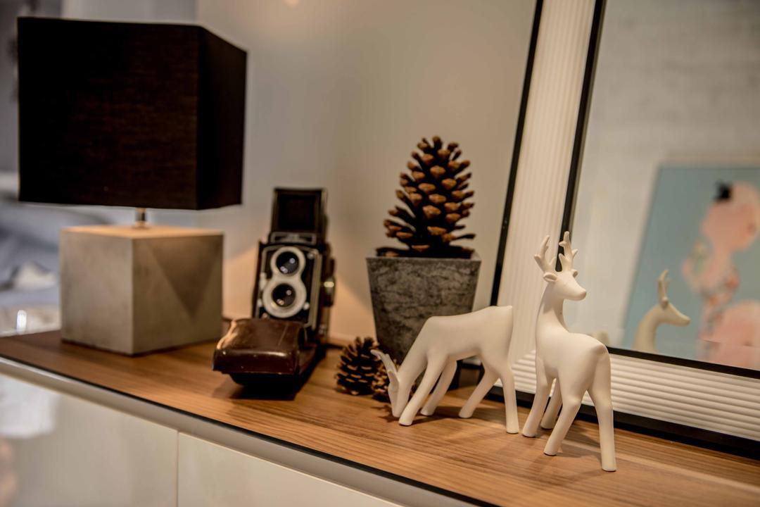 Pasir Ris One, Mr Shopper Studio, Contemporary, Modern, Living Room, HDB, Decor, Accessories, Home Decor, Display Items, Ornaments, Indoors, Interior Design
