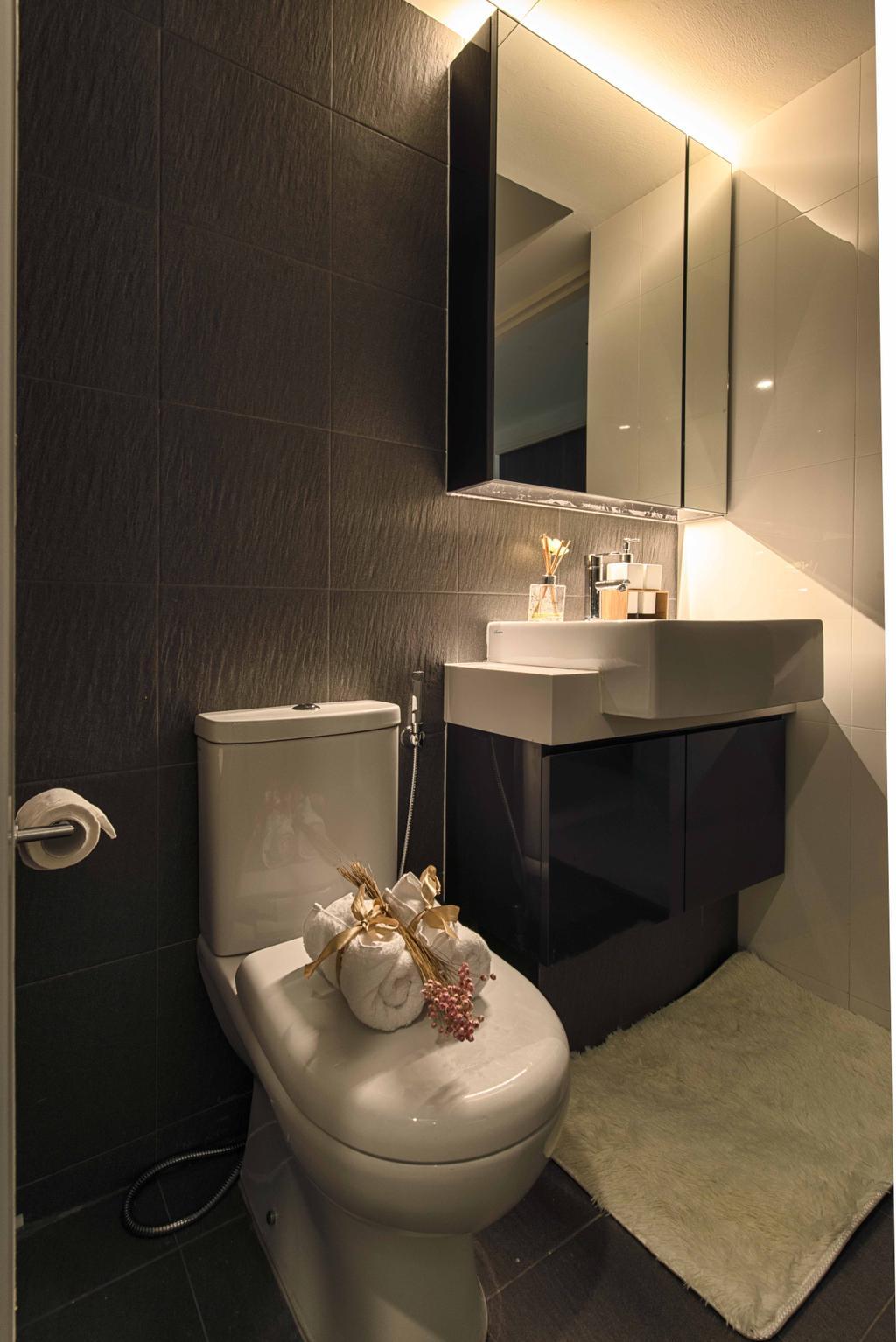 Contemporary, HDB, Bathroom, Pasir Ris One, Interior Designer, Mr Shopper Studio, Modern