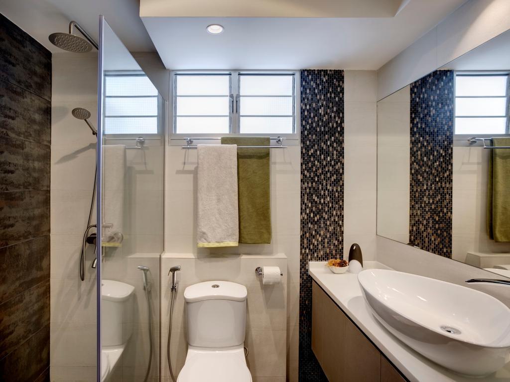 Modern, HDB, Bathroom, Anchorvale Street, Interior Designer, Liid Studio, Tiles, Brown, Nude Tones, Vanity Sink, Basin, Wash Basin, Indoors, Interior Design, Room, Toilet, Sink