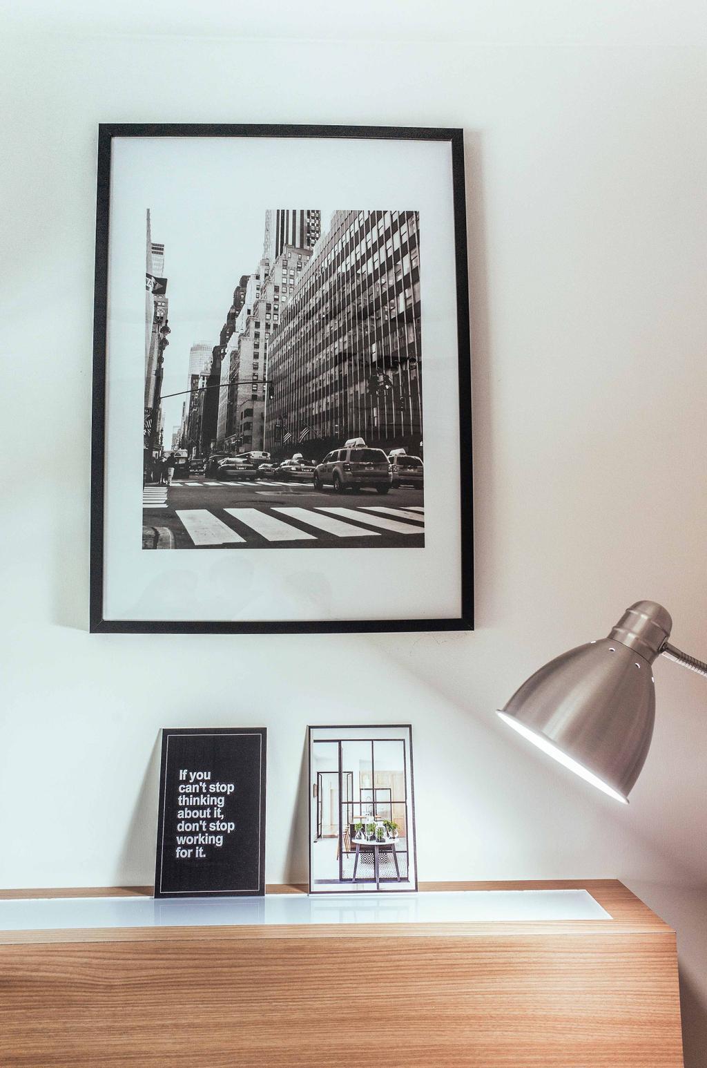 Eclectic, HDB, Study, Upper Serangoon View (Block 476B), Interior Designer, Urban Habitat Design, Photos, Photo Frame, Wall Poster, Reading Lamp