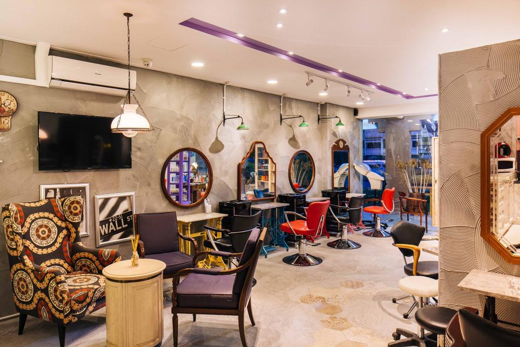 Hairhaus, Commercial, Interior Designer, Urban Habitat Design, Eclectic, Industrial, Chair, Furniture, Cafe, Restaurant